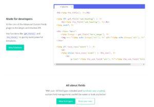 Advanced Custom Fields Pro Nulled Code Screen