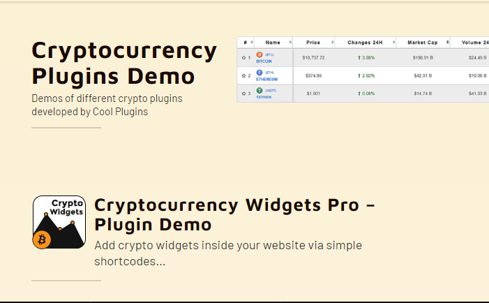 Cryptocurrency Widgets Pro Nulled