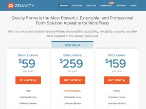 Gravity Forms Pro Pricing