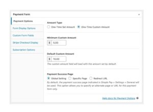 Allow Custom Amount Payments