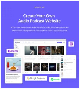 CREATE YOUR OWN AUDO PODCAST WEBSİTE