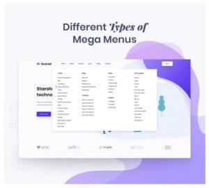 DİFFERENT TYPES OF MEGA MENUS