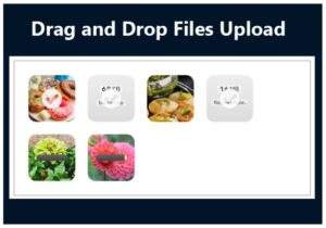 DRAG AND DROP FİLES UPLOAD
