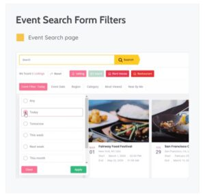 EVENT SEARCH PAGE