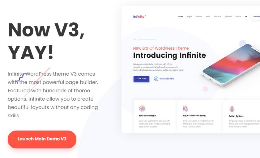 Infinite - Multipurpose WordPress Theme Nulled