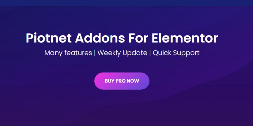 Piotnet Addons Pro For Elementor Pro Free Download
