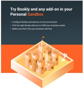 TRY BOOKLY AND ADDON İN YOUR PERSONAL SANDBOX