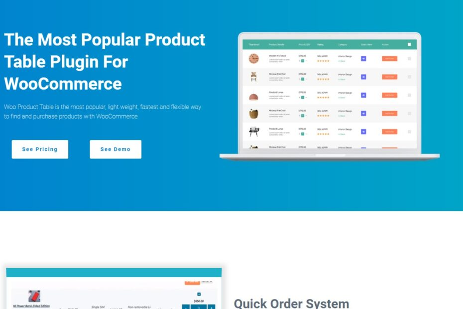 Free Download Woo Product Table Pro Nulled