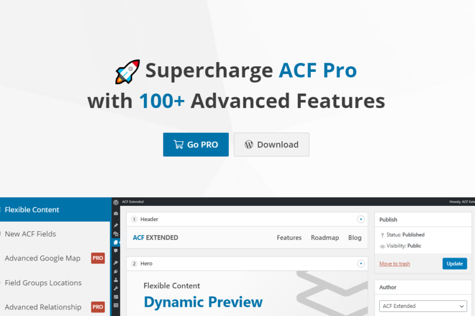 Advanced Custom Fields Extended Pro Nulled