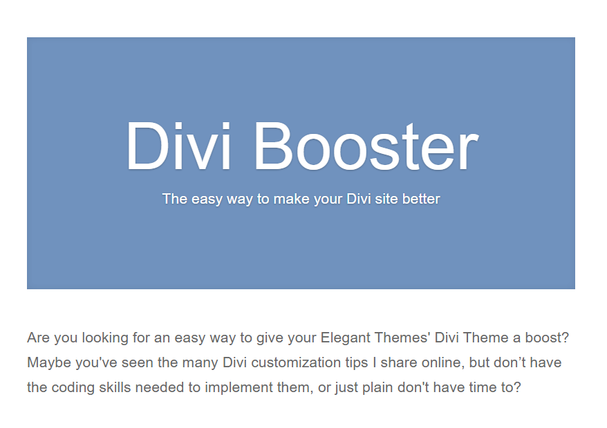 Divi Booster Nulled