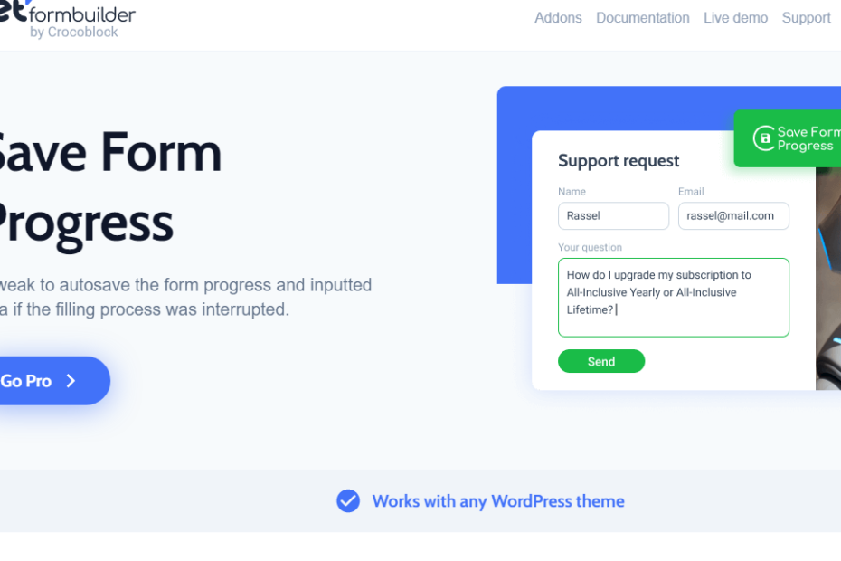 Save Form Progress Nulled
