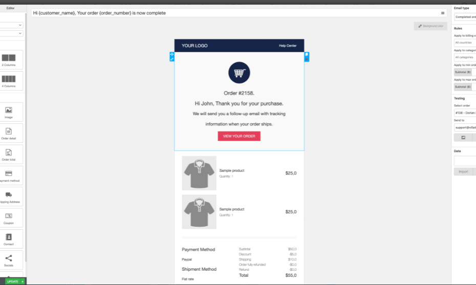 WooCommerce Email Template Customizer Nulled