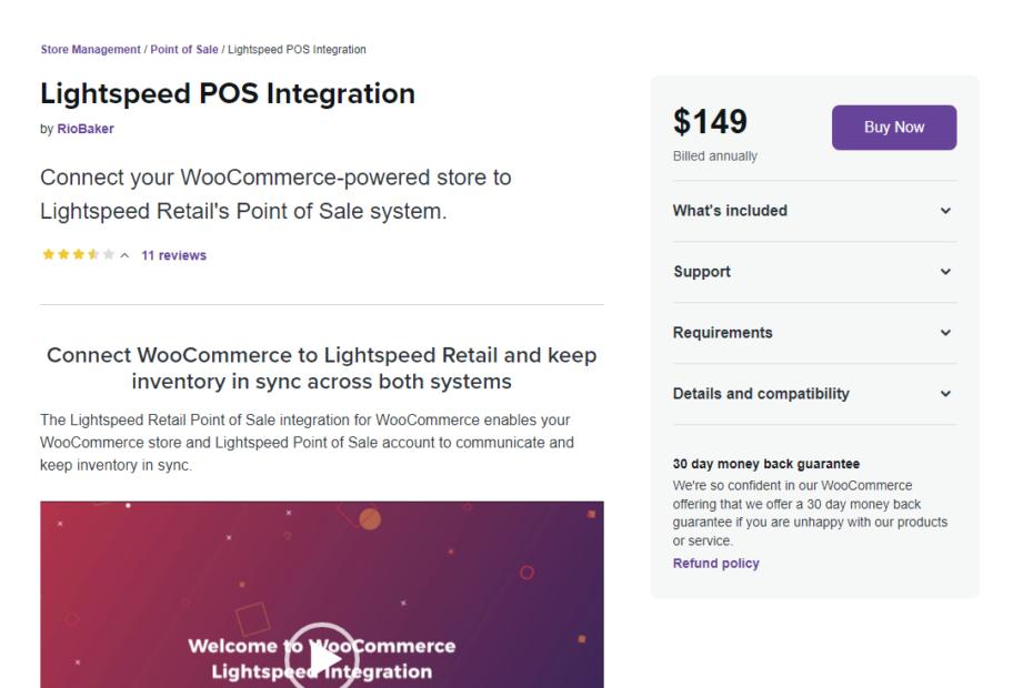 WooCommerce Lightspeed POS Integration Nulled