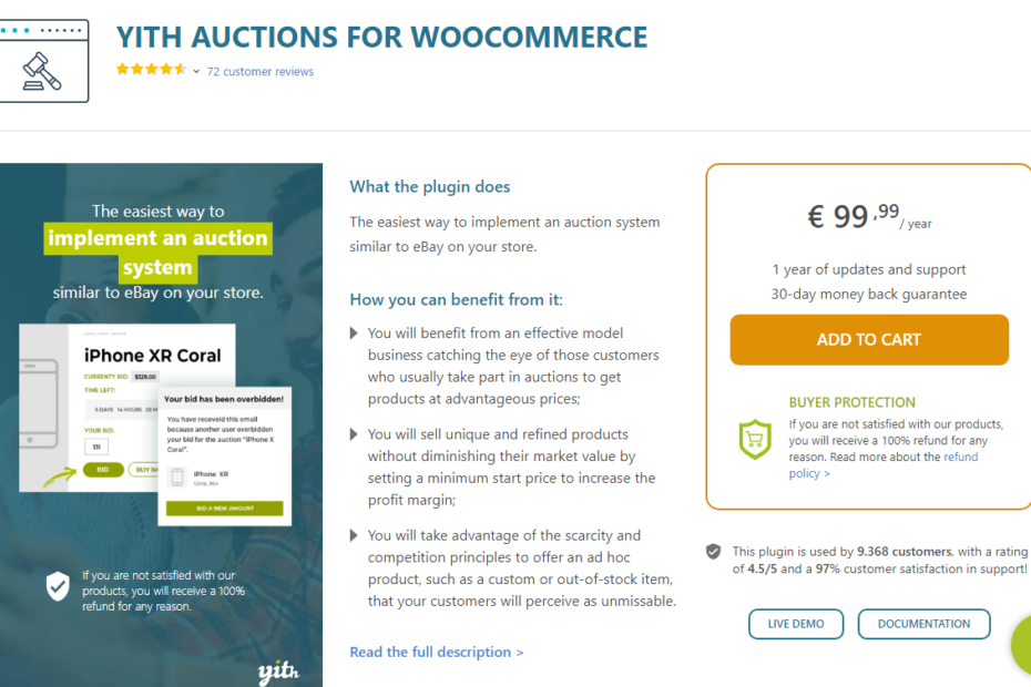 YITH Auctions for WooCommerce Premium Nulled