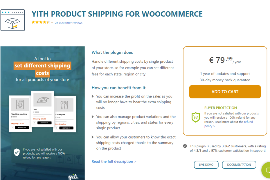 YITH Product Shipping for WooCommerce Premium Nulled