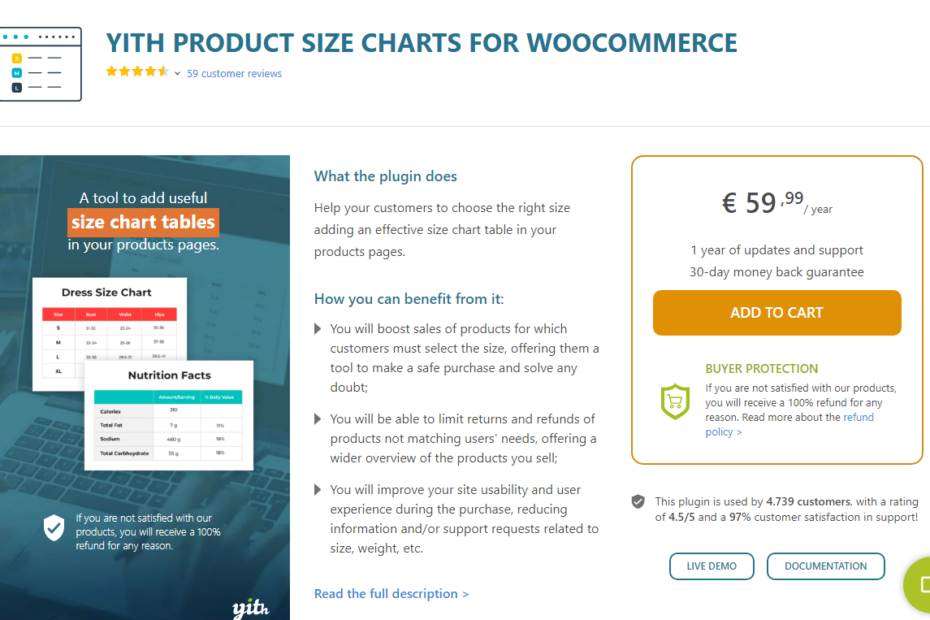 YITH Product Size Charts for WooCommerce Premium Nulled