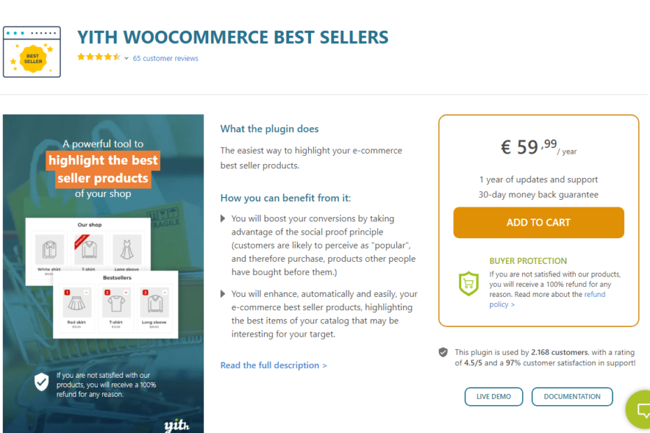 YITH WooCommerce Best Sellers Premium Nulled
