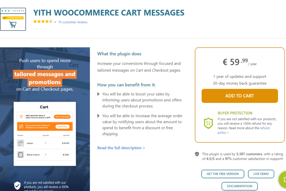 YITH WooCommerce Cart Messages Premium Nulled