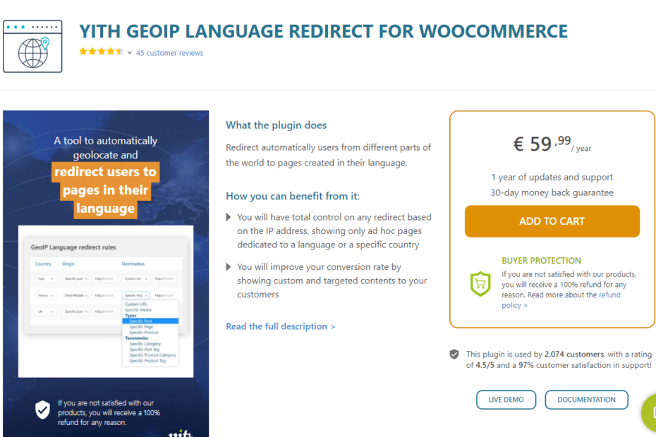 YITH WooCommerce GeoIP Language Redirect Nulled