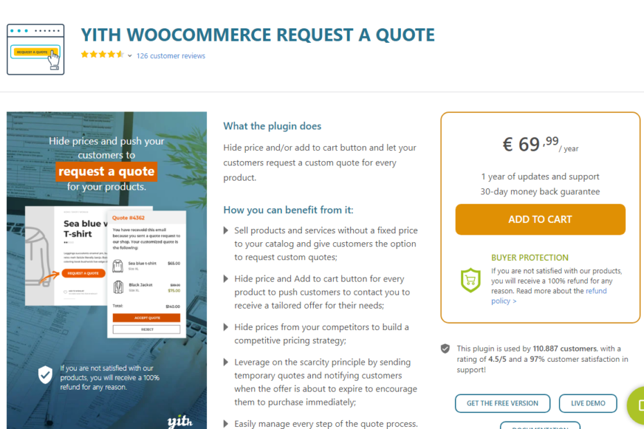 YITH WooCommerce Request a Quote Premium Nulled