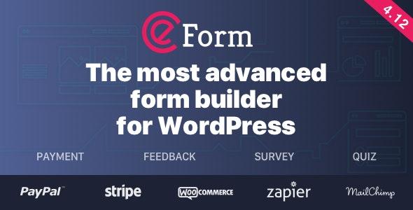 eForm Wordpress Form Builder Nulled Plugin