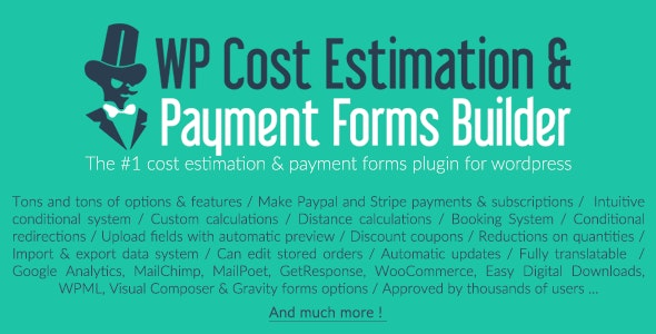 WP Cost Estimation & Payment Form Builders Nulled Plugin