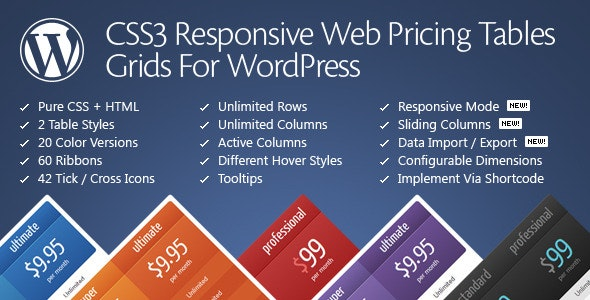 CSS3 Responsive Web Pricing Tables Grids Nulled Plugin