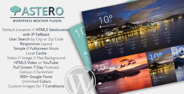 Astero - WordPress Weather Plugin