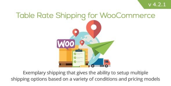 Table Rate Shipping for WooCommerce Nulled Plugin