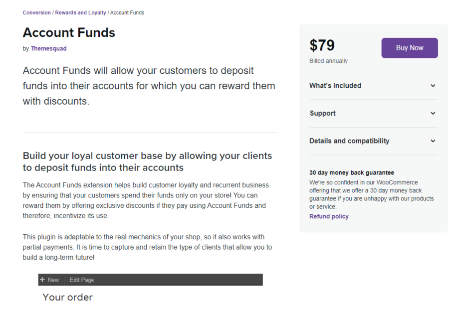 WooCommerce Account Funds Nulled