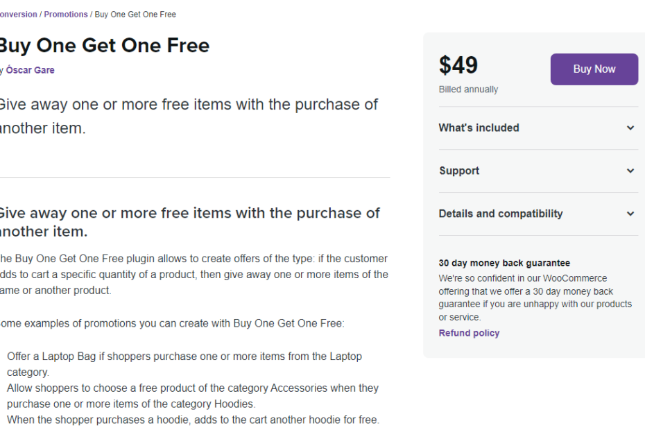 WooCommerce Buy One Get One Free Nulled