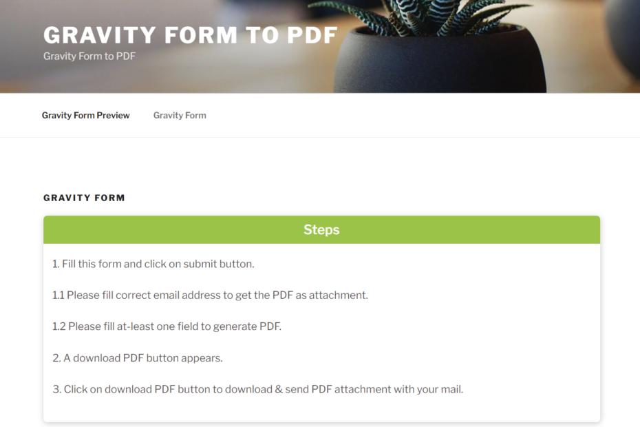 free download WordPress Gravity Forms PDF